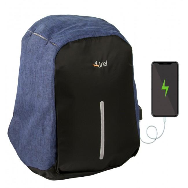 Mochila con cargador portátil para teléfono móvil 44x31x12 cm