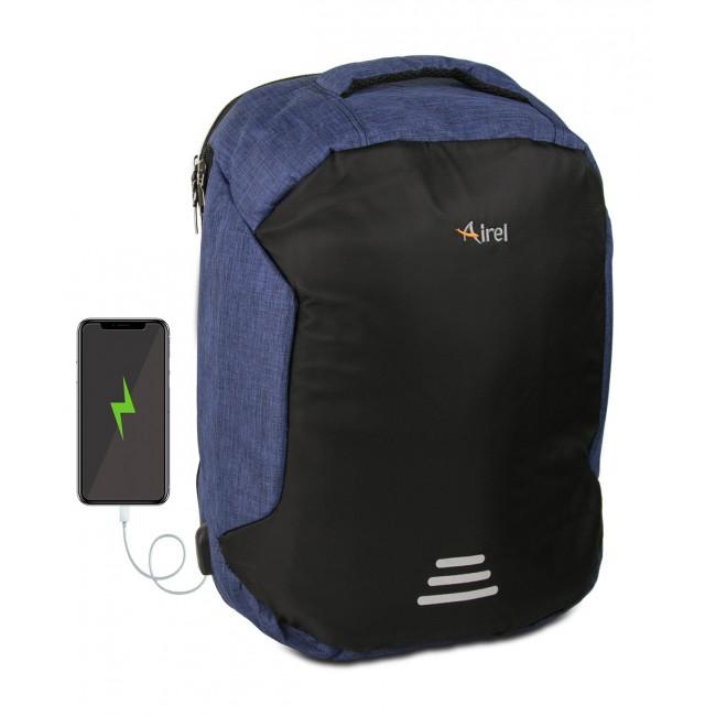 Mochila con cargador portátil para teléfono móvil 45x36x18 cm