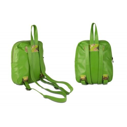 Leather backpack with...