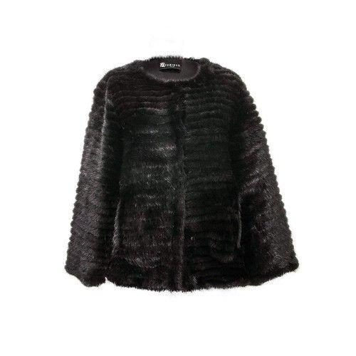 Leather Jacket Women, Vison...