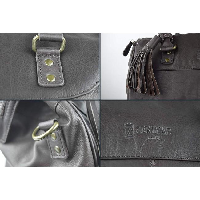 Bolso de piel tipo maletin de mujer 28x35x17 cm