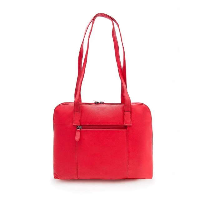 Shoulder bag style briefcase with interior compartments