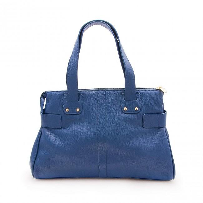 Bolso de piel para mujer color Azul Marino 39x26.5x11.5 cm