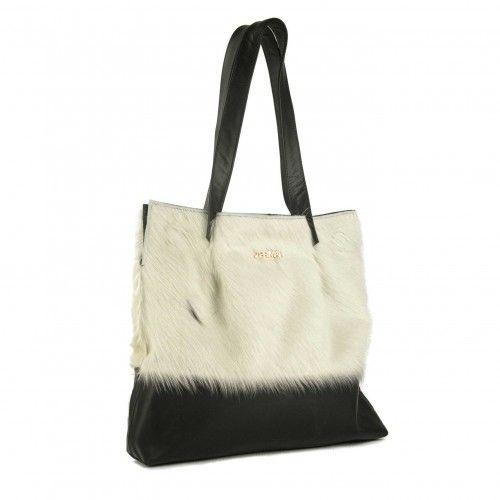 TOTE bag made of calfskin...