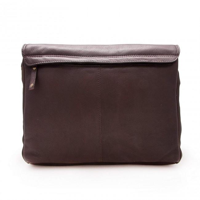 Bolso bandolera vintage de cuero 30x35x8 cm