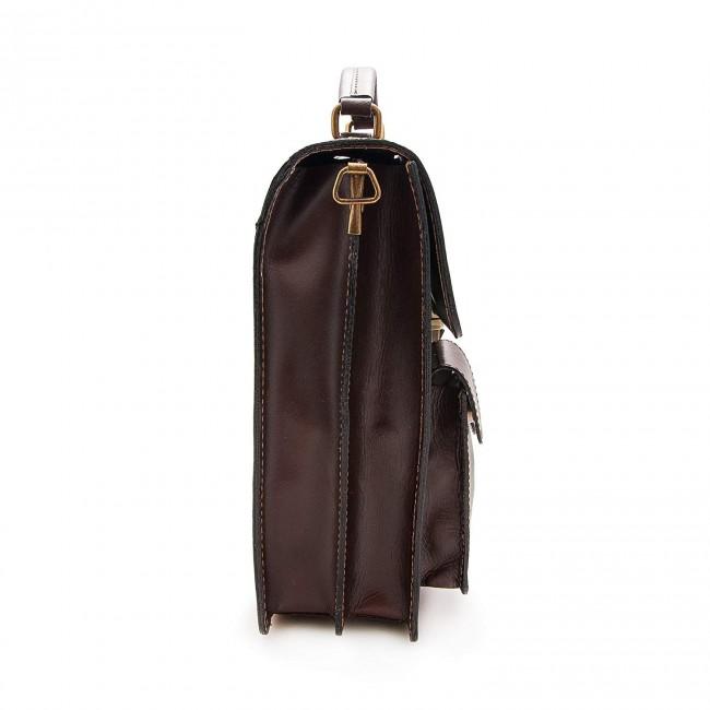 Bolso bandolera vintage de cuero 30x26x10 cm