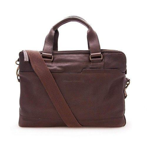 Leather briefcase, shoulder...