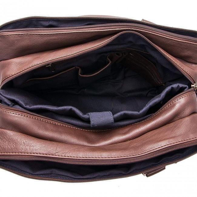 Bolso bandolera vintage de cuero 28x38x9 cm