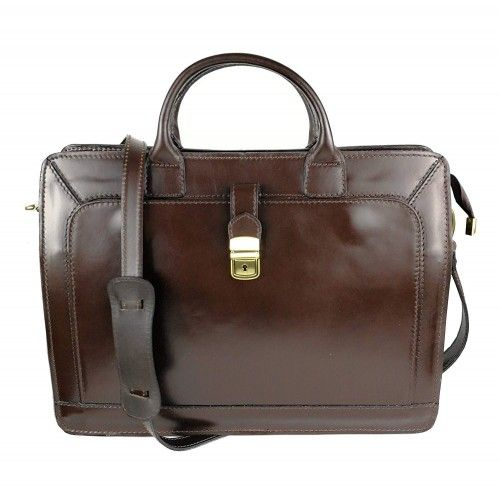Leather shoulder bag -...