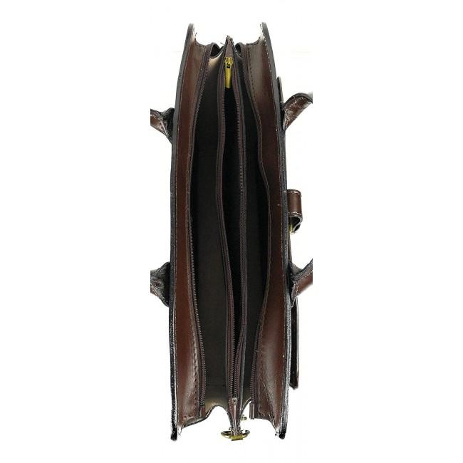 Bolso bandolera vintage de piel 40x30x12 cm