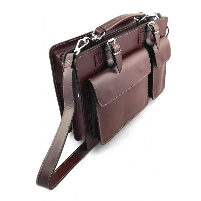 Bolso bandolera vintage de cuero natural 34x25x10 cm
