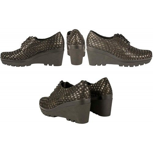 Leather Wedge Heel Shoes -...