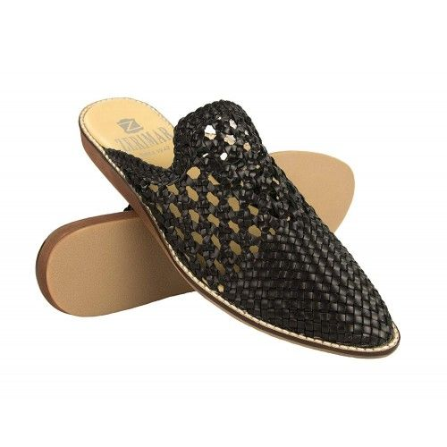 Zapatos mules de piel