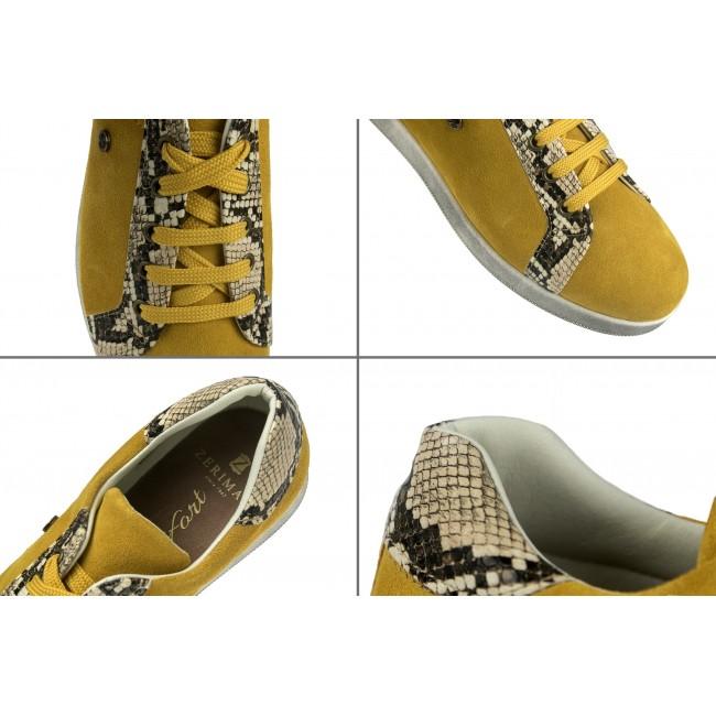 Python print colored leather sneakers