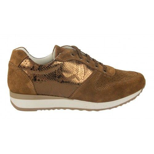 Sneakers de piel de ante...