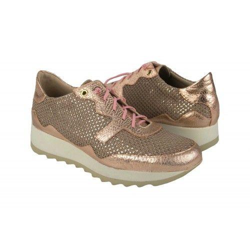 Sneakers metalizadas con...