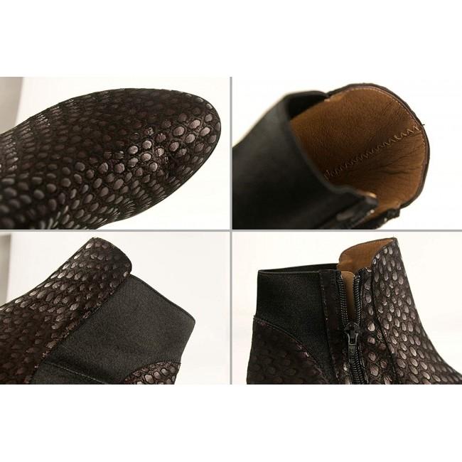 Botines con tacón de piel estilo elegante - Fabricado en España