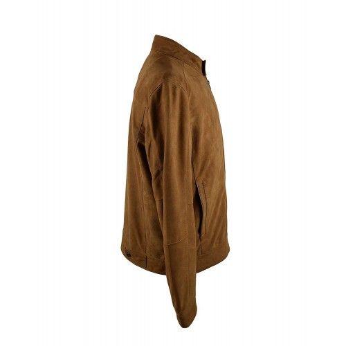 Simple suede jacket for men