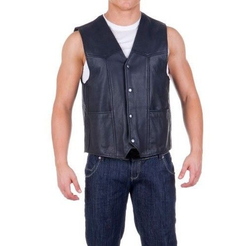 Leather Waistcoat for Men,...