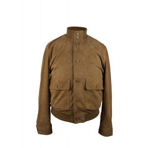 Suede jacket with buttons...