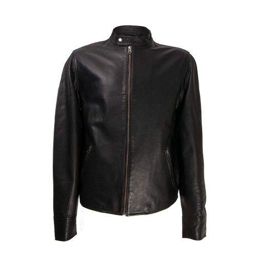 Basic black men's jacket