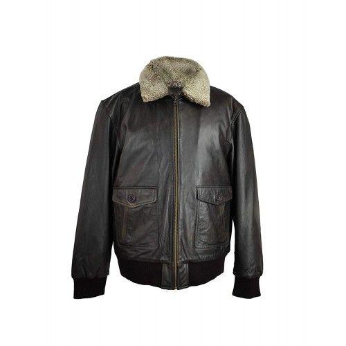 Leather Jacket Men, Elegant...