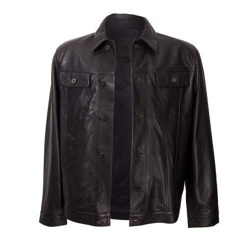 Black vintage style leather...