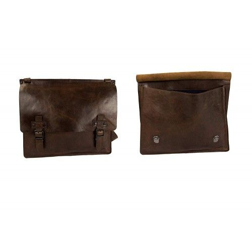 Leather Messenger Bag,...