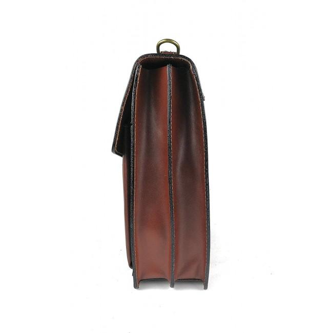 Bolso bandolera vintage de cuero 30x26x11 cm