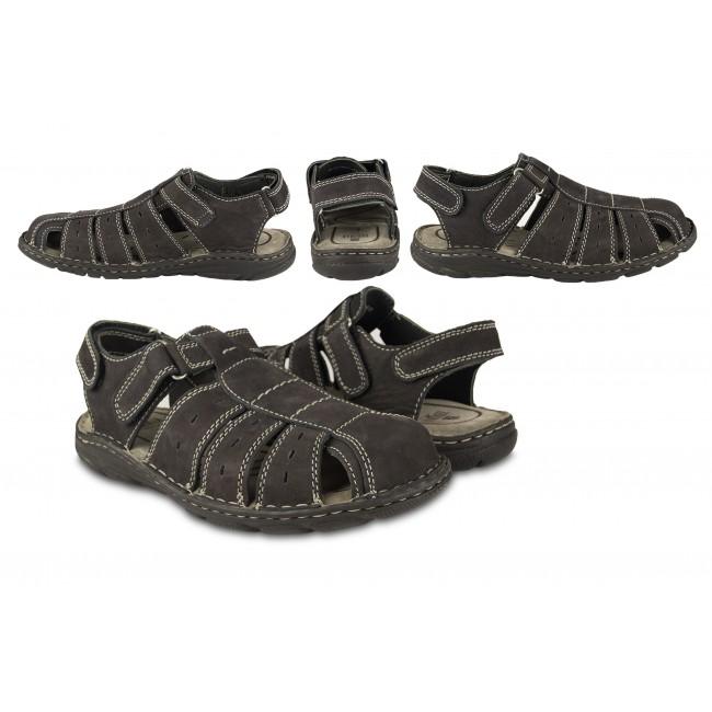 Sandalias de piel de trekking o senderismo color azul marino