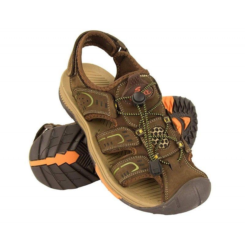 Sandalias cangrejeras en piel de trekking o senderismo
