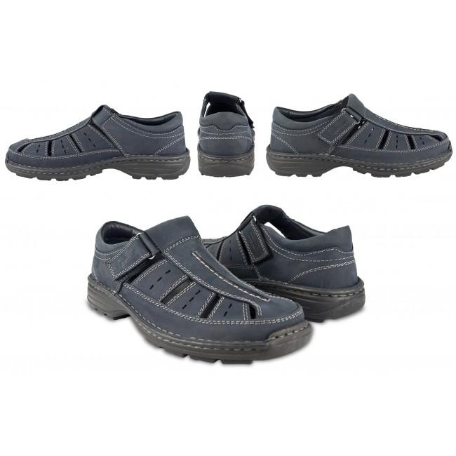 Sandalias de hombre de piel de trekking o senderismo