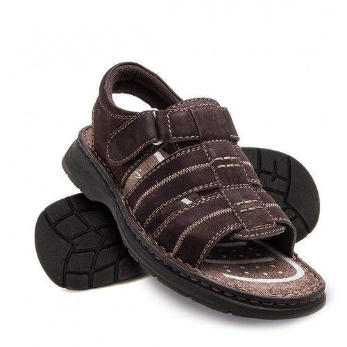 Skórzane sandały na rzepy...