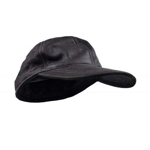 Skórzana czapka baseballowa...