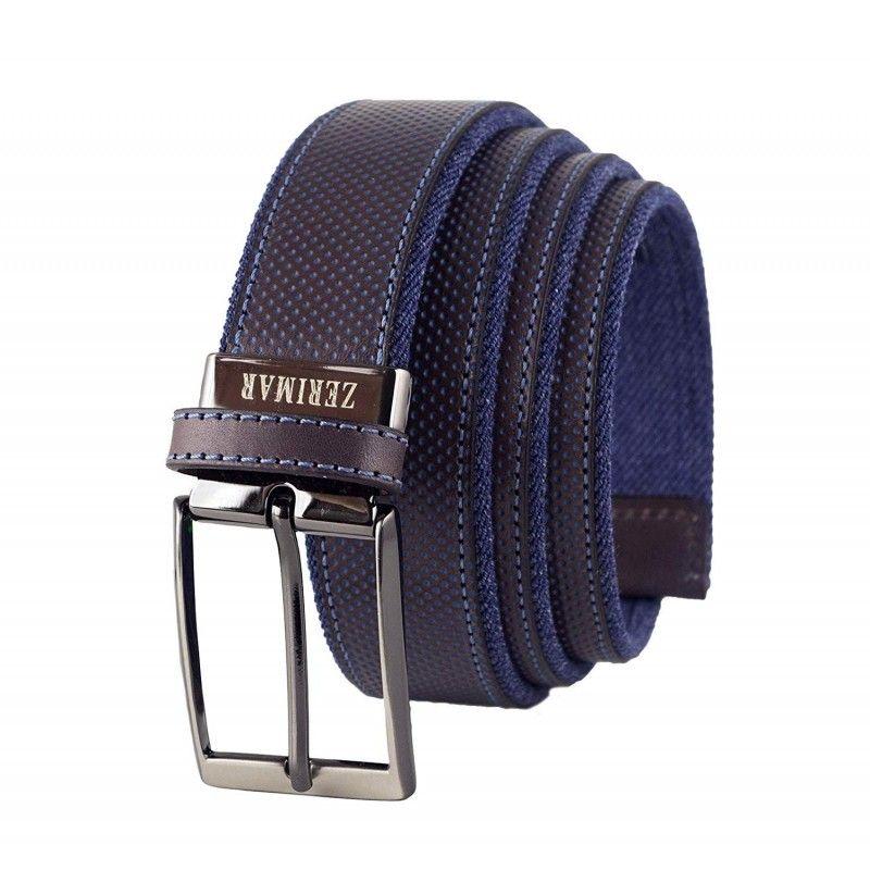 Cinturon de piel natural de 3,5 cm de ancho