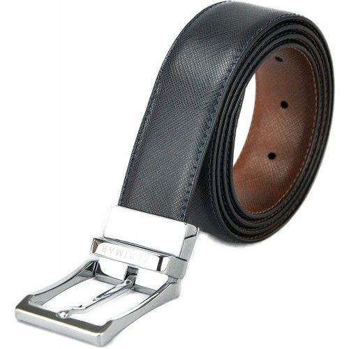 Cinturón reversible de piel...