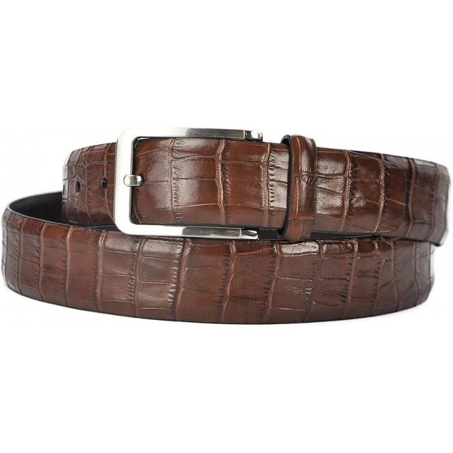 Cinturón de piel grabado estilo elegante 4 cm de ancho