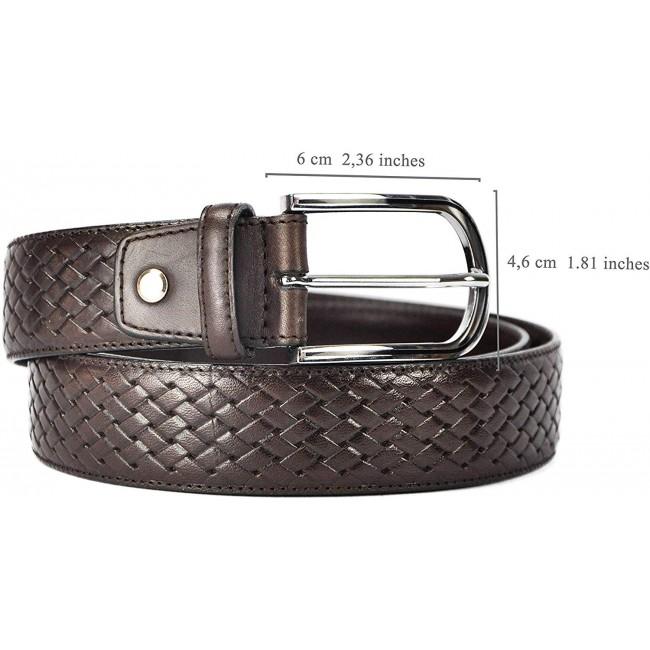 Cinturón de piel estilo elegante 4 cm-1