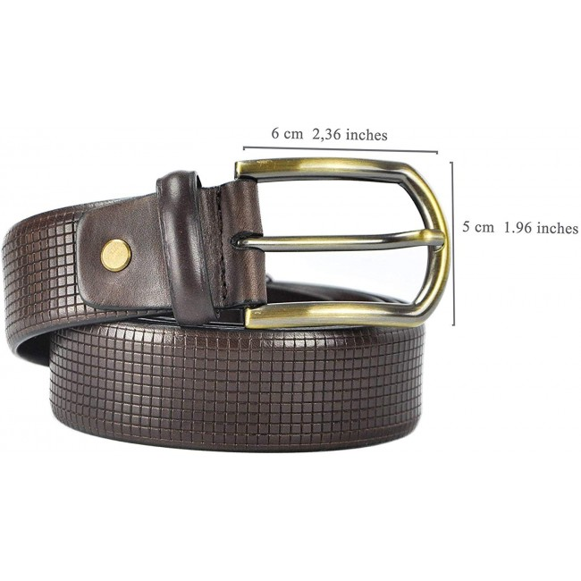 Cinturón de piel elegante 4 cm de ancho