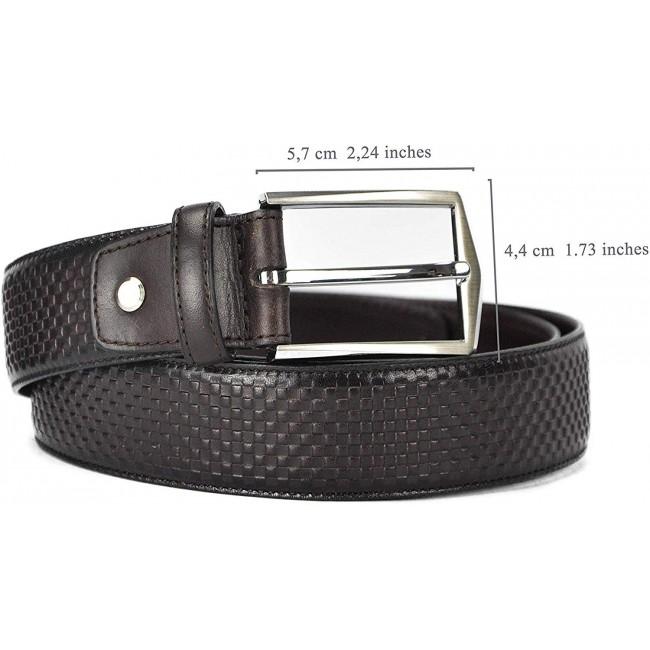 Cinturón de piel elegante 4 cm ancho
