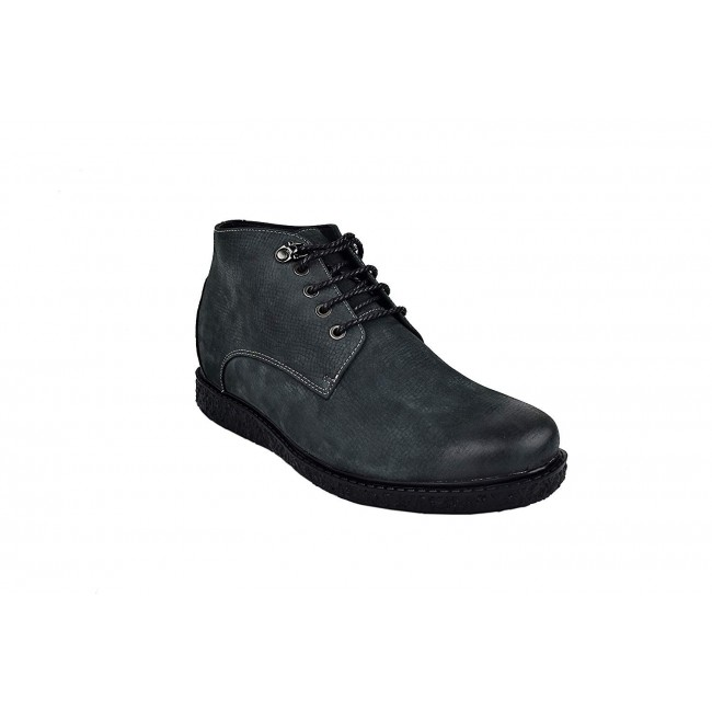 Men Leather Boots, Elevator Shoes 2,3 in, Casual Boots for Men