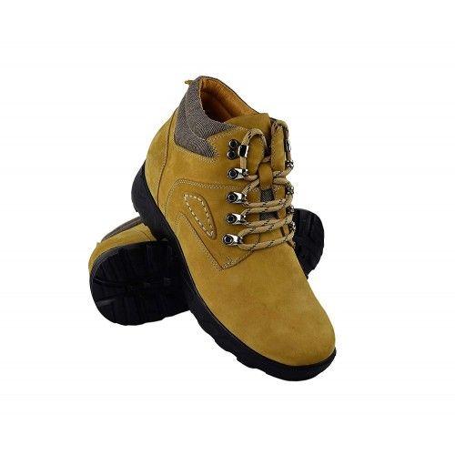 Męskie skórzane buty, 8 cm...