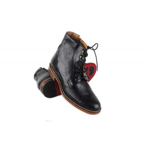 Stiefel mit Lederstiefeln,...