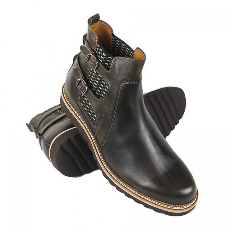 Men Leather Shoes, Elevator Shoes 2,7 in, Casual Shoes for Men 8