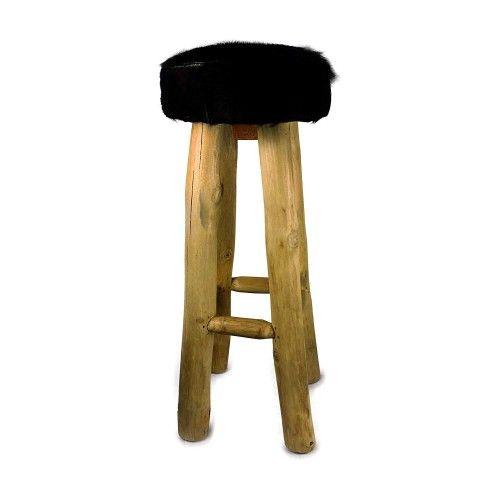 Goathide Wood Stool,...