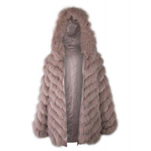 Reversible fox coat with...
