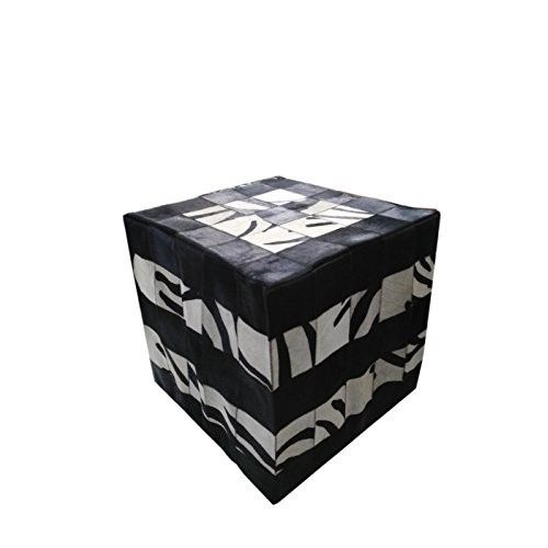 Cowhide Stool, 17x17 in,...