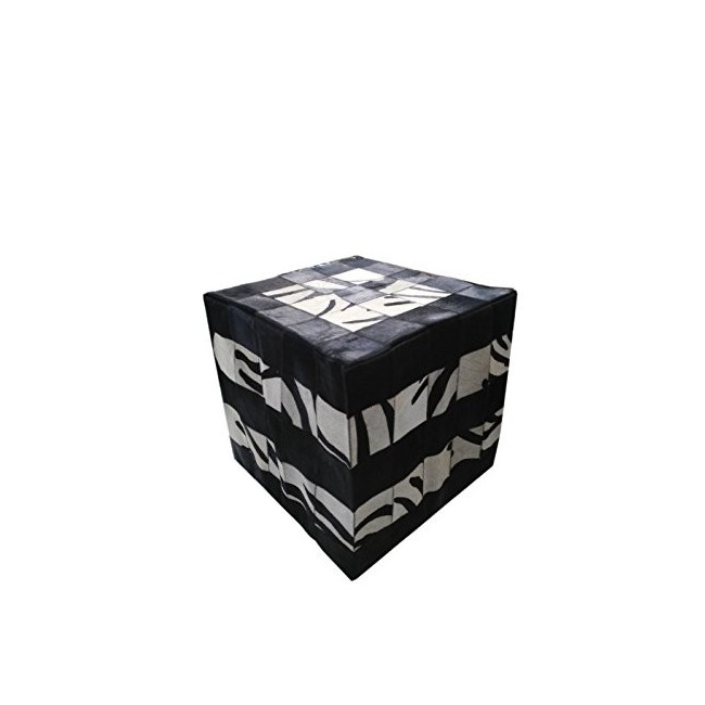 Cowhide Stool, 17x17 in, Entrance Stools, Foot Stools