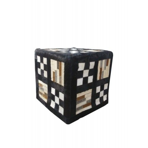 Cowhide Stool, 17x17,...