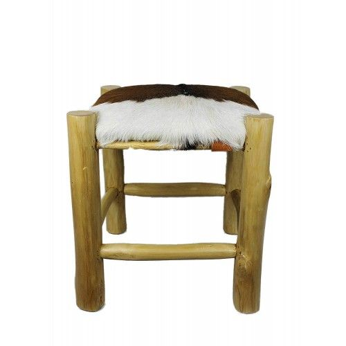 Goathide Wood Stool,...